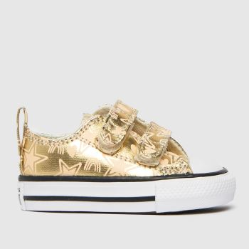 Converse Gold 2v Lo Stars Girls Toddler