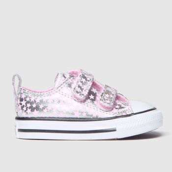 Converse Silver All Star 2v Lo Shes A Star c2namevalue::Girls Toddler