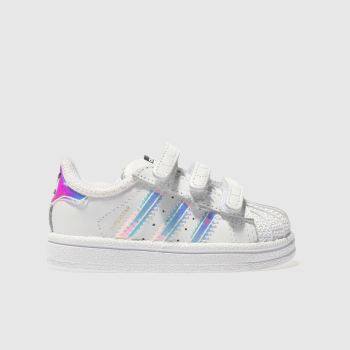 Adidas White & Silver Superstar Girls Toddler