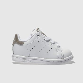 Adidas White Stan Smith Girls Toddler