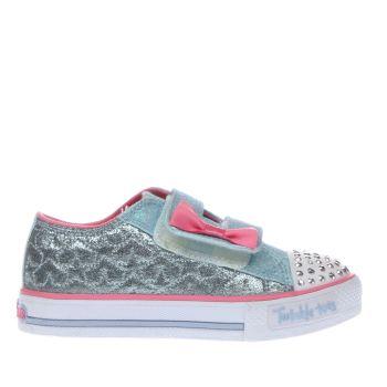 SKECHERS PALE BLUE T TOES STARLIGHT GIRLS TODDLER TRAINERS