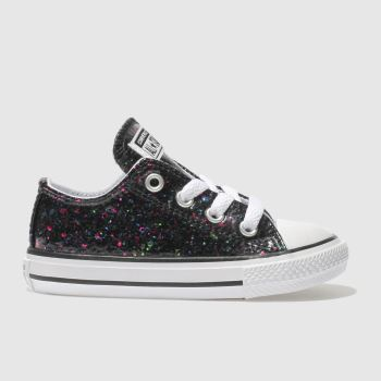 Converse Black All Star Lo Glitter Girls Toddler