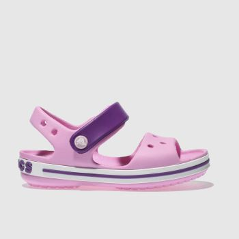 crocs Pale Pink Crocband Sandal Girls Toddler