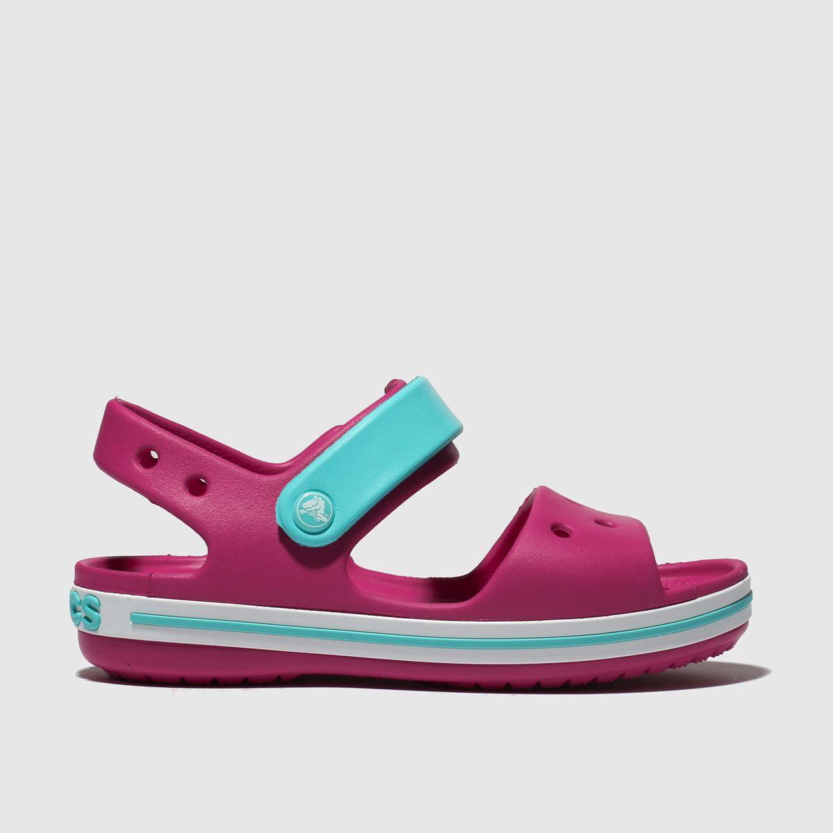 Crocs Pink Crocband Sandals Toddler