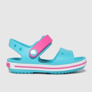 crocs Turquoise Crocband Girls Toddler