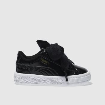 Puma Black Basket Heart Glam Girls Toddler