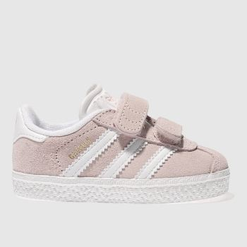 hot sale online d6b63 1dc1f Adidas Pale Pink Gazelle Girls Toddler