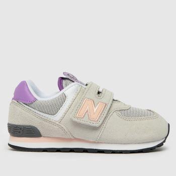 New balance Light Grey 574 V Girls Toddler