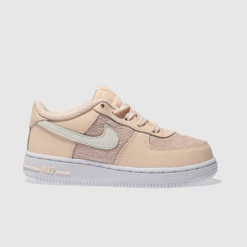 NIKE PEACH AIR FORCE 1 LV8 TRAINERS TODDLER