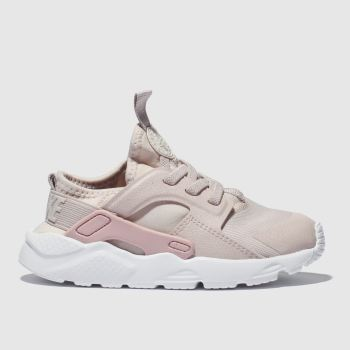 NIKE PALE PINK HUARACHE RUN ULTRA PREMIUM TRAINERS TODDLER
