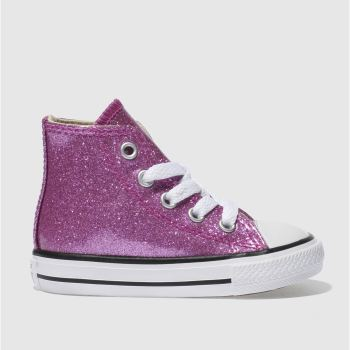 Converse Pink All Star Hi Glitter Girls Toddler