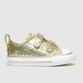 Converse Gold All Star 2v Lo Glitter Girls Toddler