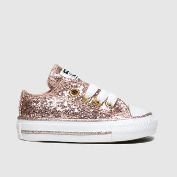 Converse Pink All Star Lo Glitter Girls Toddler