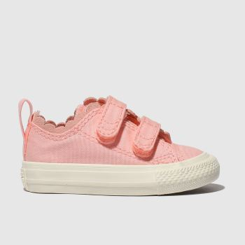 CONVERSE PALE PINK ALL STAR 2V LO TRAINERS TODDLER