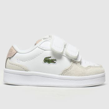 Lacoste White & Pink Masters Cup Girls Toddler