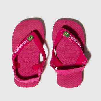 Havaianas Pink Brasil Logo c2namevalue::Girls Toddler