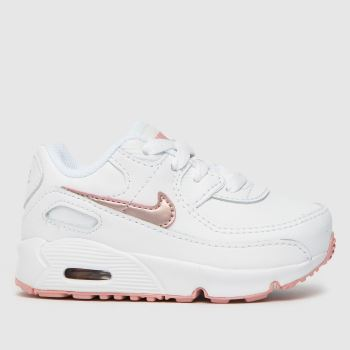 Nike White Air Max 90 Ltr Tdlr Girls Toddler