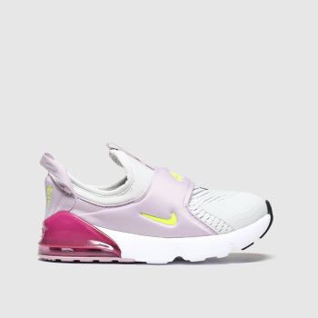 Nike White & Pink Air Max 270 Extreme c2namevalue::Girls Toddler