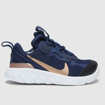Nike Navy & Gold Renew Element 55 Girls Toddler