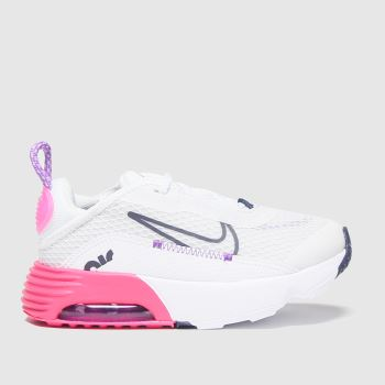 Nike White & Pink Air Max 2090 Girls Toddler#