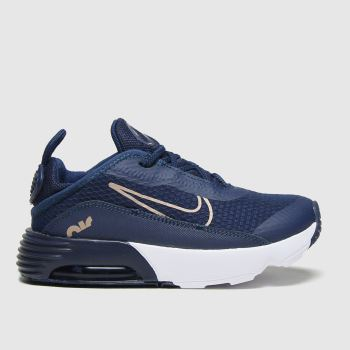 Nike Navy & Gold Air Max 2090 Girls Toddler