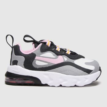 Nike Light Grey Air Max 270 React Girls Toddler