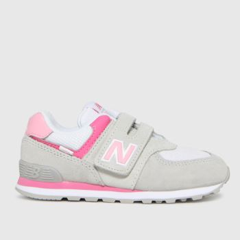 New balance Light Grey 574 Girls Toddler