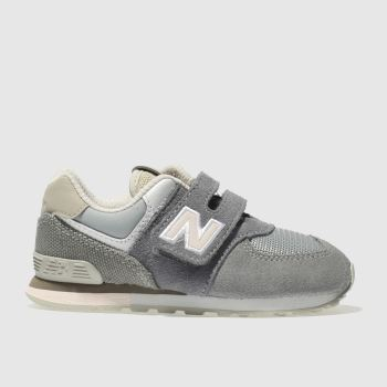 New Balance Grey 574 Girls Toddler