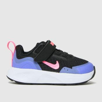 Nike Black & Purple Wearallday Girls Toddler