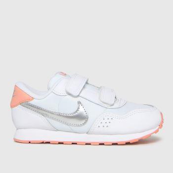 Nike White & Silver Md Valiant Girls Toddler