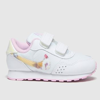 Nike White & Pink Md Valiant Girls Toddler