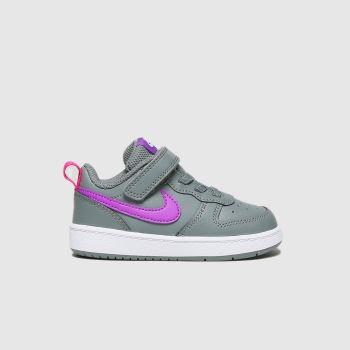 Nike Dunkelgrau Court Borough Low 2 MädchenKleinkind