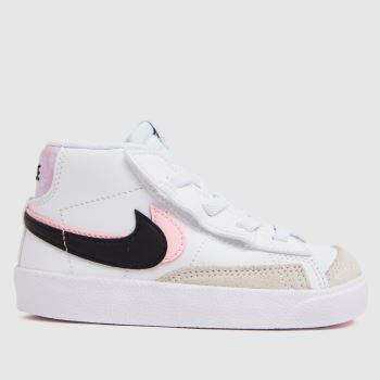 Nike White & Pink Blazer Mid 77 Se Girls Toddler