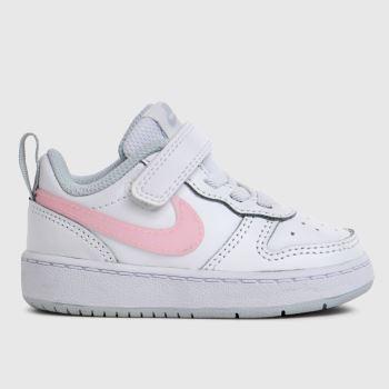 Nike White Court Borough Low 2 Girls Toddler