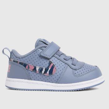 Nike Grey Court Borough Low Girls Toddler
