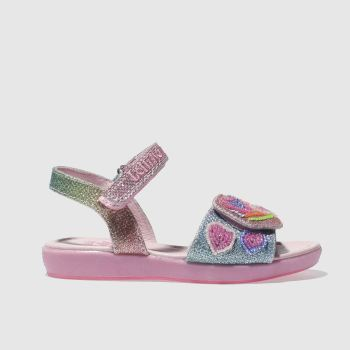 LELLI KELLY  PINK RAINBOW HEARTS GIRLS TODDLER SANDALS