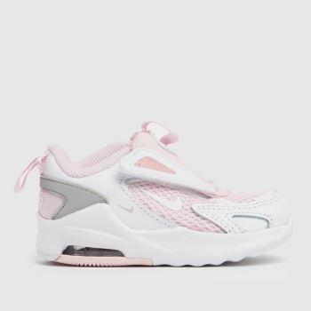Nike White & Pink Air Max Bolt Girls Toddler