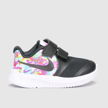 Nike Black & White Star Runner 2 Fable Girls Toddler
