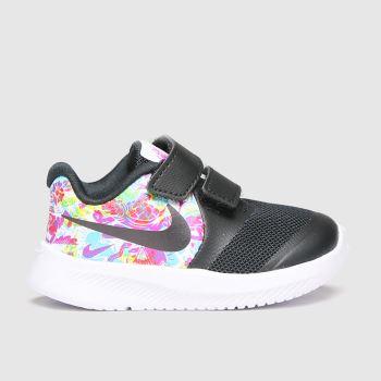 Nike Black & White Star Runner 2 Fable Girls Toddler#