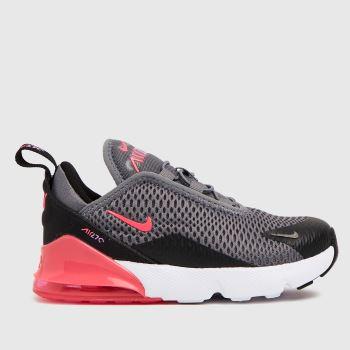 Nike Black & Grey Air Max 270 Girls Toddler