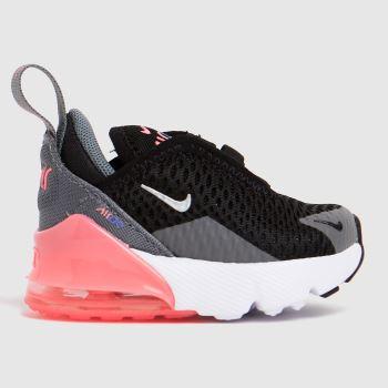 Nike Grey & Black Air Max 270 Girls Toddler