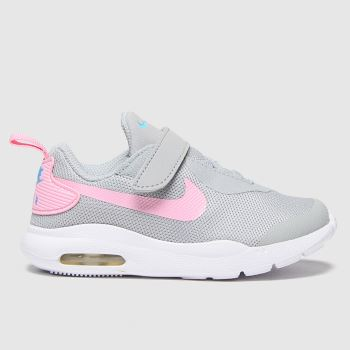 Nike Light Grey Air Max Oketo Girls Toddler#