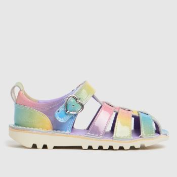 Kickers Multi Sandal Rainbow Girls Toddler