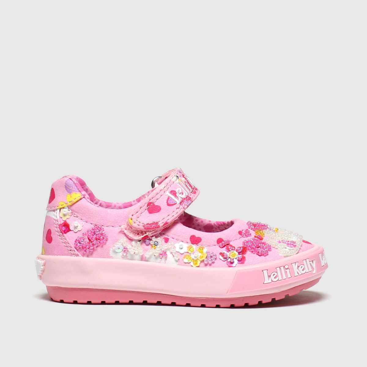 Lelli Kelly Pink Swan Baby Dolly Trainers Toddler