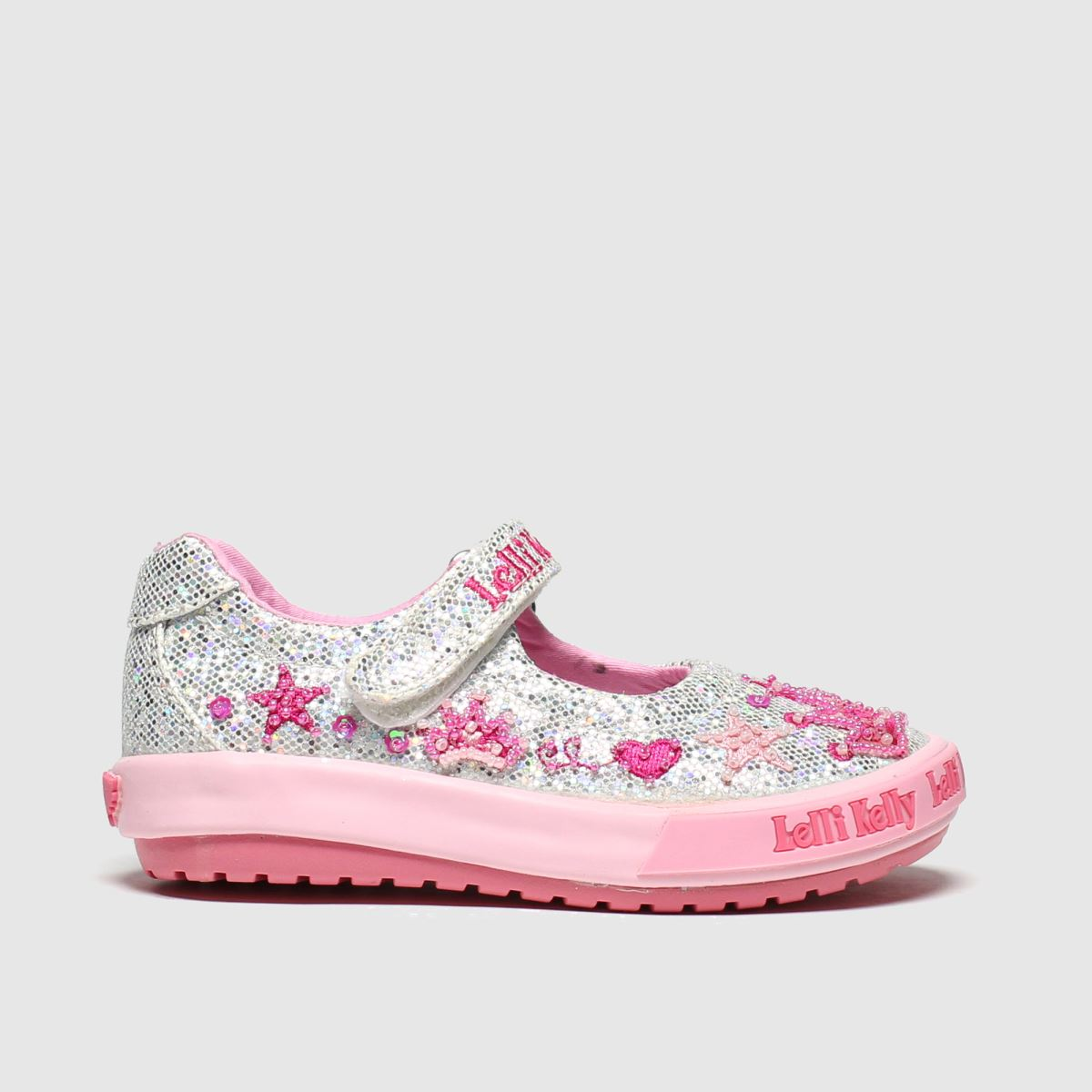 Lelli Kelly Silver Tiara Baby Dolly Trainers Toddler