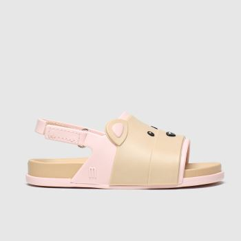Melissa Beige Beach Slide Bear Girls Toddler