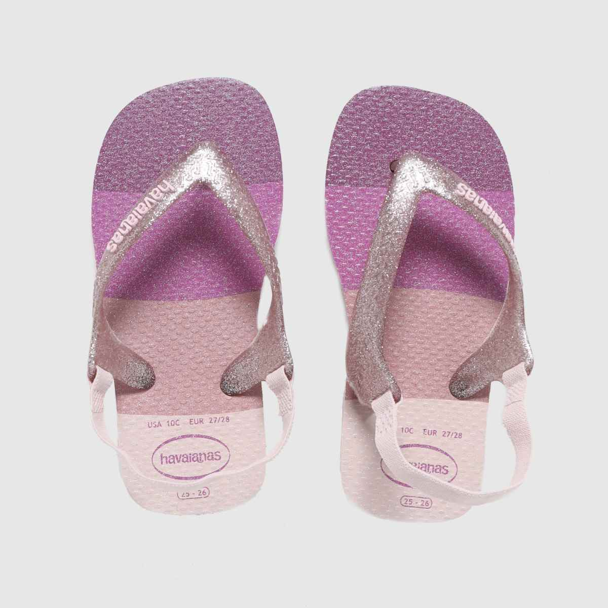 Havaianas Purple Baby Palette Glow SANDAL Toddler