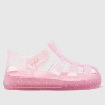 Igor Pale Pink Star Glitter Girls Toddler