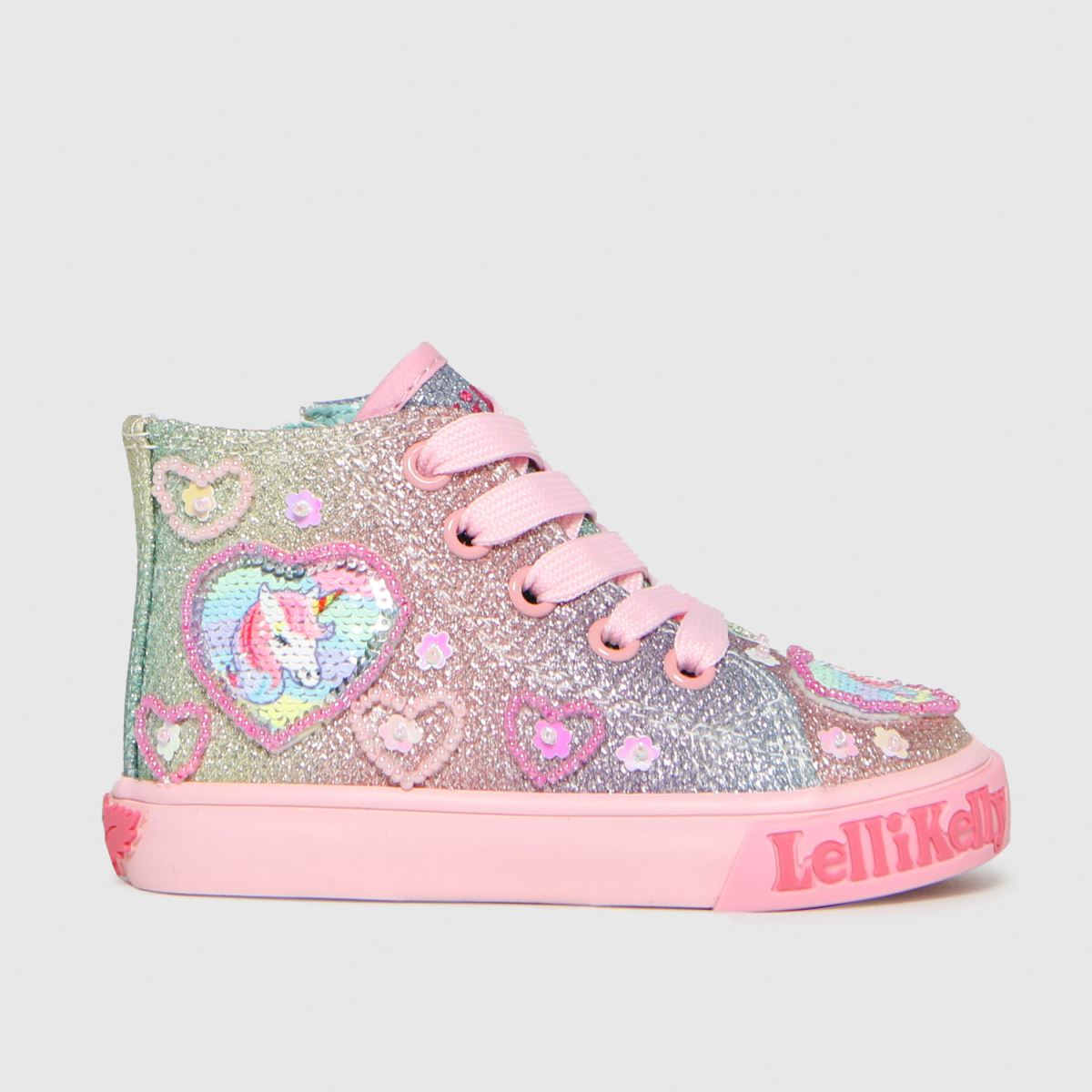 Lelli Kelly Pink Gem Baby Mid Trainers Toddler