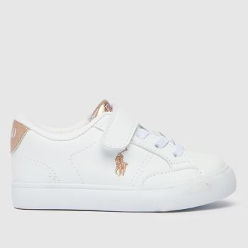 Polo Ralph Lauren White & Pink Theron Iv Ps Girls Toddler
